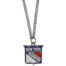 "new york rangers licensed nhl hockey charm necklace 22"" chain"