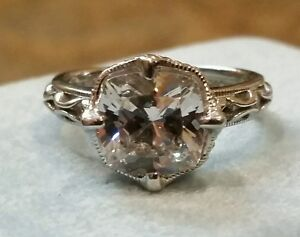 Tacori IV Epiphany 1.5 Carat Diamonique Solitaire Size 5 QVC Engagement Ring