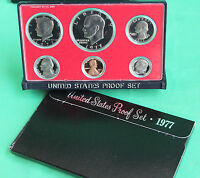 1977 S United States Mint Annual 6 Coin Proof Set Original Box