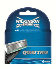 Wilkinson Sword Quattro Lame per rasoio Confezione da 4 uomo RICARICA AUTENTICO