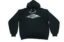 Vintage Bronze Age Surf Skate Hoodie Sweatshirt Large Black 90s