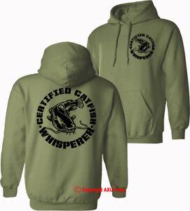 Catfish fishing hoodie black cat fishing Catfish Whisperer HOODIES  S-XXL