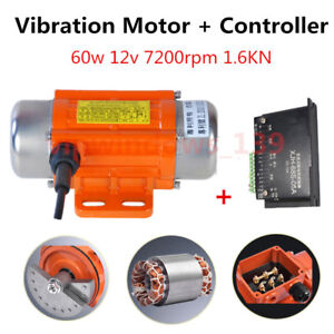 60W Industrial DC Brushless Vibrating Motor & CNC Speed Controller 7200rpm 12V