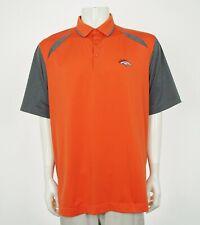 Cutter & Buck Team Denver Broncos Orange Golf Polo Shirt Mens XL