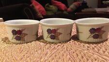 VTG Royal Worcester Fine Porcelain Set of 3 Evesham 'M' Ramekins ENGLAND