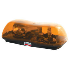 BRITAX 420-00-24V DUAL ROTATOR LIGHT BAR BEACON AMBER LENS FLANGE BASE LIGHTBAR