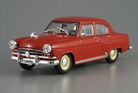 GAZ-21 Volga M21 Red Soviet Sedan 1957 Year 1/43 Scale Collectible Model Car