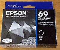 Genuine Epson 69 (T069120) Black Ink Cartridge Expires 2021 2022 2023 New in Box