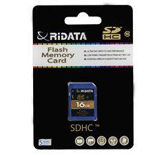 Ridata (Ritek) SD 16GB Class 10 SDHC Flash Memory Card