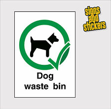 Dog Waste Bin Stickers, Top quality, best on ebay Free Postage A5 Size