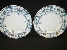 WEDGWOOD BRITISH PORCELAIN   PAIR OF TEA PLATES  IN AVONMORE   1895 /1905