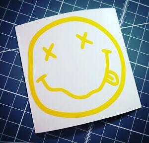 Nirvana Smiley Sticker Vinyl Decal Car Bumper Window Laptop Tablet School Folder