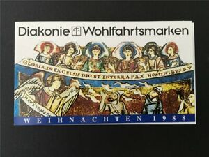 GERMANY BOOKLET 1988 CHRISTMAS X-MAS NOEL NAVIDAD WEIHNACHTEN RARE!! h4973