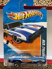 New 2011 Hot Wheels #153 HW Racing '11 3/10 '69 PONTIAC GTO Blue w/Chrome MC5