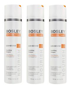 Bosley Bos Revive Nourishing Shampoo Visibly Thinning,10.1 Oz (3 Pack)