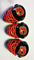 LOT OF 3 CALGARY FLAMES POCKET SIZED GOALIE MASK HELMETS FRANKLIN BULK