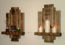 2 LARGE FLOATING SHELF WALL ART RECLAIMED SHABBY CHIC FURNITURE STORAGE SHELVES