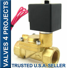 "1"" NPT 230 PSI Electric Solenoid Valve, Brass Body,  110/120V AC FKM/VITON B22V"