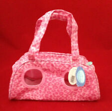 CARTE BLANCHE ME TO YOU BLUE NOSE FRIENDS PINK LEOPARD CARRY CASE BAG PUPPY DOG