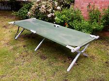 British Army Heavy Duty Aluminium Frame Folding Camp Bed Strong American Built B