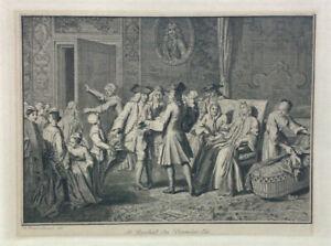 1722 Engraving Redemption First Born BERNARD PICART Judaica Jewish Print / RARE
