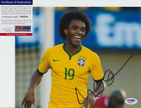 WILLIAN BRAZIL BRASIL CHELSEA SIGNED AUTOGRAPH 8X10 PHOTO PSA/DNA COA #X68282