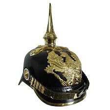 WW1 German Prussian Pickelhaube with Cruciform Base - Repro Helmet Army Soldier