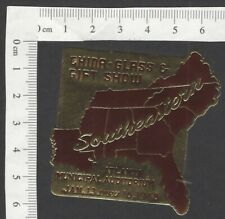 China, Glass & Gift Show, Atlanta 1948 gold & purple metallic poster stamp MH
