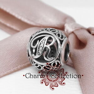 Pandora, Alphabet Vintage Letter R Initial, Charm  791862CZ