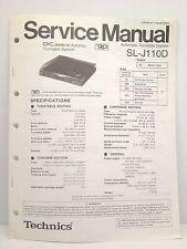 Technics Original Service Manual SL-J110D Automatic Turntable System