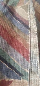 "Vintage 80s Liberty Of London ""Kasak"" Linen Upholstery Fabric 9.4m X 1.35m"