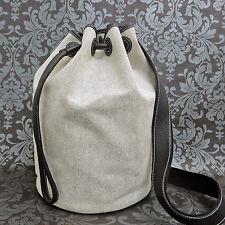 Rise-on HERMES Toile H Canvas SAC Marine Recif MM Drawstring Shoulder bag #74
