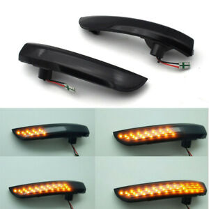 2x LED Smoke Mirror Dynamic Turn Signal Light Indicator For Ford Focus 2008-2016