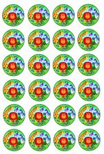 24 x ZOO JUNGLE ANIMALS Wafer Rice Paper Cupcake Toppers EDIBLE CAKE DECORATIONS