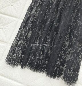 Womens Lace Slip Skirt Dress Extender Half Slip Laced Skirts Extenders Plus size