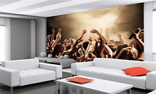 CROWD AT A CONCERT Wall Mural Photo Wallpaper POSTER GIANT WALL DECOR FREE GLUE