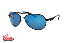 BOLLE SUNGLASSES CASSIS 12099 Black Frame with Blue Polarized Lens BNIB