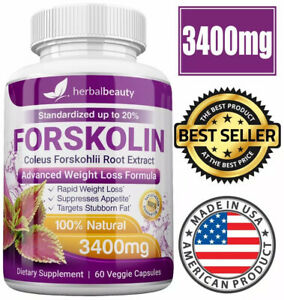 Herbal Beauty FORSKOLIN 3400mg Maximum Strength RAPID RESULTS 100% Pure Extract