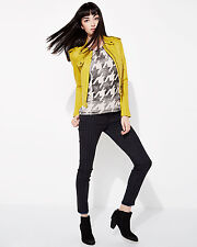 NWT Current/Elliott The Ankle in Foil Houndstooth Coated Stretch Skinny Jeans 28