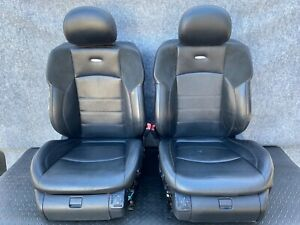 ✔MERCEDES W219 CLS55 CLS63 CLS550 FRONT SPORT AMG SUEDE LEATHER SEAT SEATS  OEM
