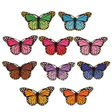 10X Embroidery Butterfly Sew On Patch Stickers Badge Embroidered Fabric Applique