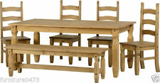 Solid Wood Up to 6 Fixed 5 Table & Chair Sets