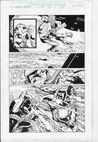 Captain America #46 p7 (2001) Jurgens/Layton  Cap Undersea Battle Iron Man Guest