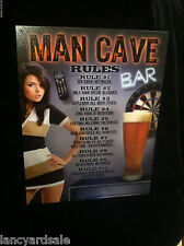 "**NEW** Novelty Metal SIGN 16""x12"" MAN CAVE RULES - PRIMITIVE"