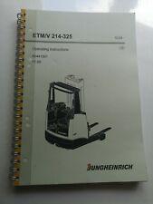 More details for jungheinrich etm / v 214-325 operator handbook