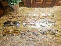 SET of 9  various  vintage EYEGLASSES bulk lot frames  inc Adensco made in Italy