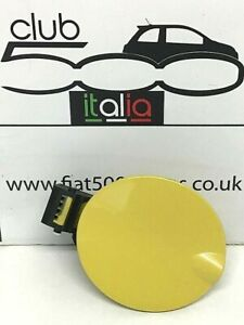 Fiat 500 Fuel Flap in Yellow