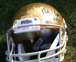 MICHAEL MAYER 2021 Notre Dame Irish SIGNED F/S Football Helmet