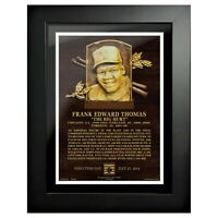 """Frank Thomas Chicago White Sox Hall of Fame Gallery Photo (14"""" x 18"""") Framed"""