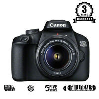 NEW Canon EOS 4000D Digital SLR Camera + EF-S 18-55 mm f/3.5-5.6 III UK DISPATCH